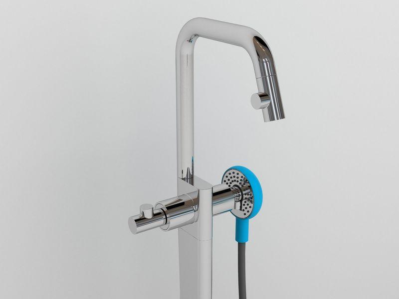 Kaldur bathtap with shower