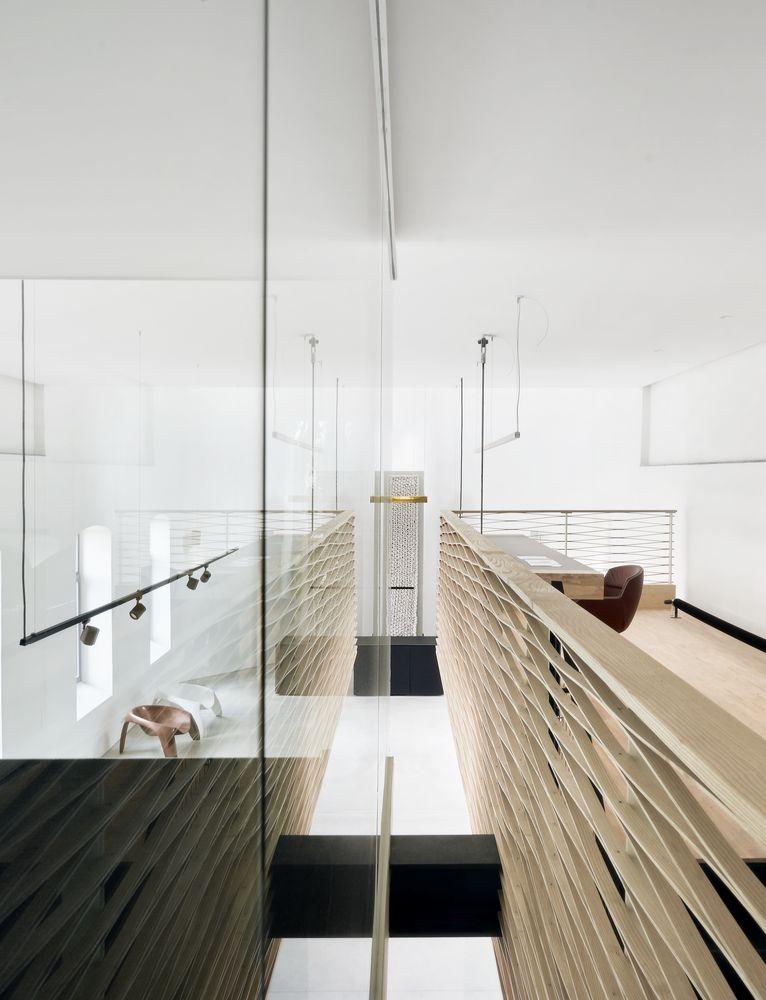 Andrieskapel view between floating meeting room and office
